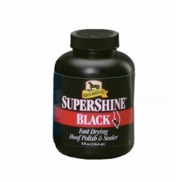 Absorbine Supershine Hoof Polish 236ml Black Saddles And