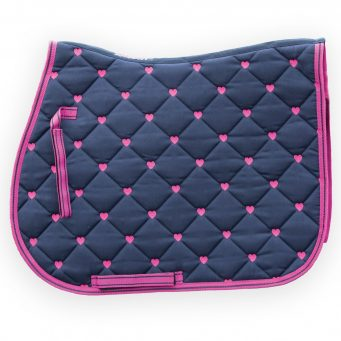 Loveson Saddle Pad hearts