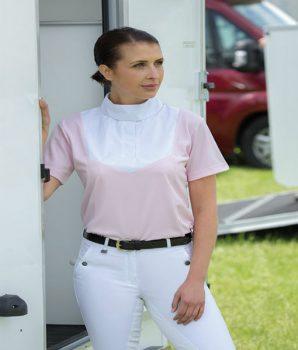 Shotrt Sleeve Stock Shirt Pink