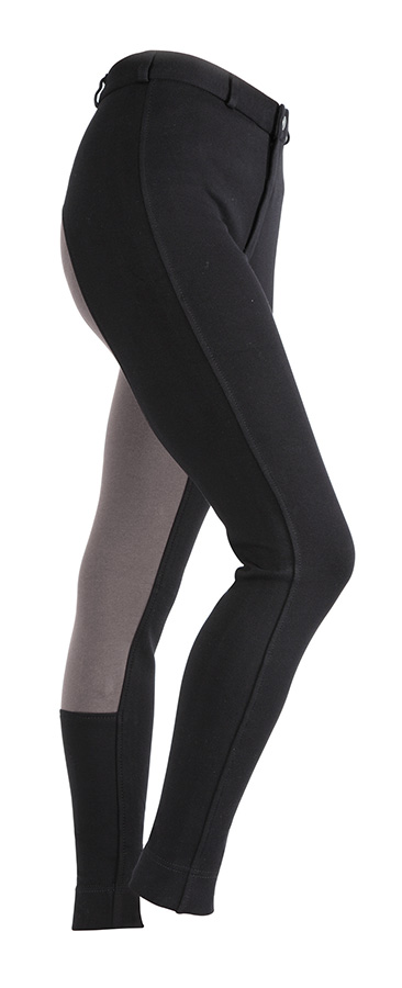 Wessex Two Tone Jodphurs Black.Grey1