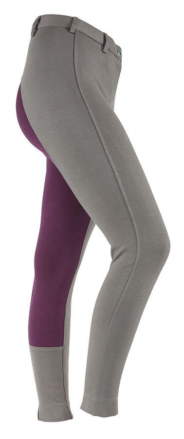 Wessex Two Tone Jodphurs Grey.plum
