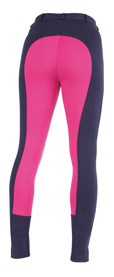 Wessex Two Tone Jodphurs navy.pink