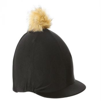 pom pom hat cover Black