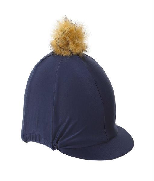 pom pom hat cover Navy