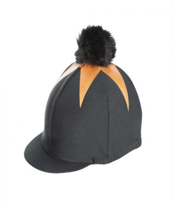 pom pom hat cover Black.Gold
