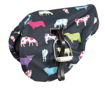 Saddle cover cowprint