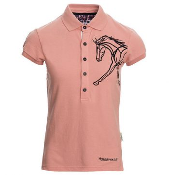 Horseware Flamboro Polo Shirt Coral 1