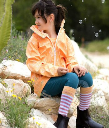 kids rain jacket Apricot cover