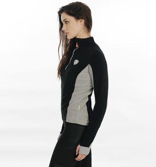 Fiona Half Zip Fleece Raven 1 Saddles And Style