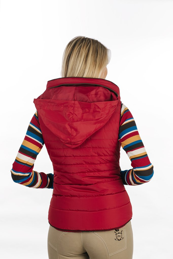 Maya Paddded Vest Hood red