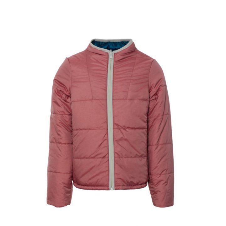 Reversible padded jacket raspb