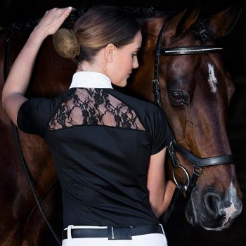 Sara competition Shirt Black Back