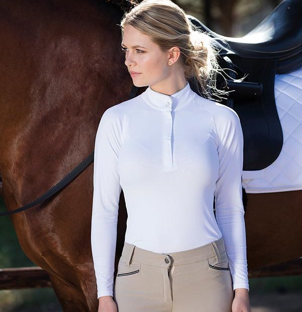 Sara competition Long Sleeve Shirt White Front