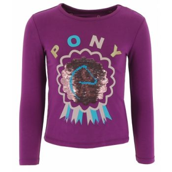 long sleeve sequin top Purple