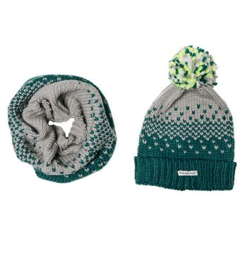 Hat and Snood Storm Green 2