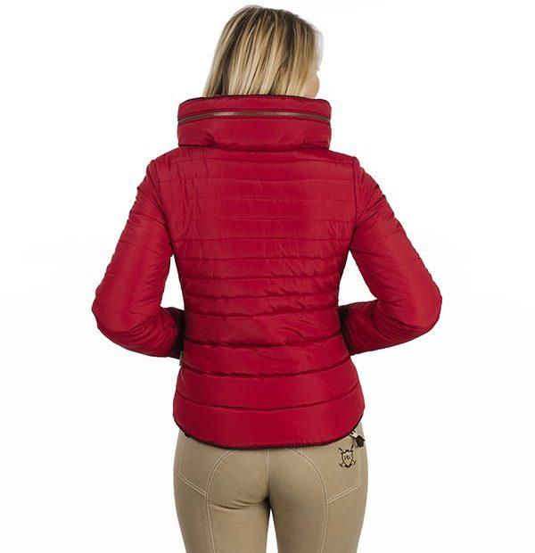 Maya Paddded Jacket Scarlet back