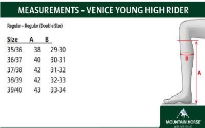 venice size chart