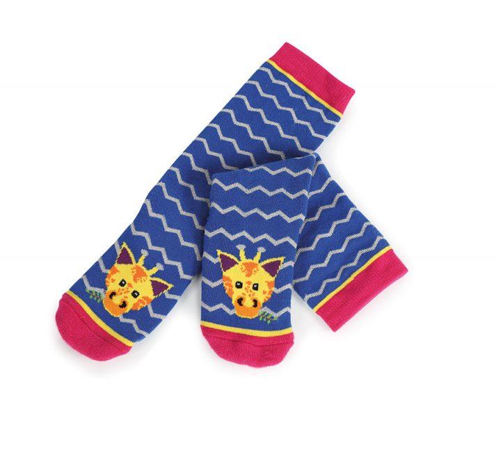 Tikaboo Socks Blue Giraffe
