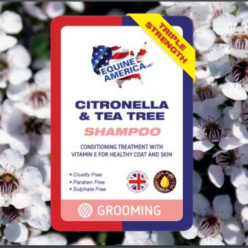 Equine America Citronella & Tee tree shampoo label