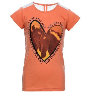 Horseware Girls Novelty Tee Coral