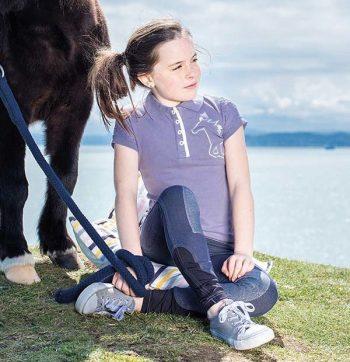 Horseware Girls Pique Polo Lavender 1