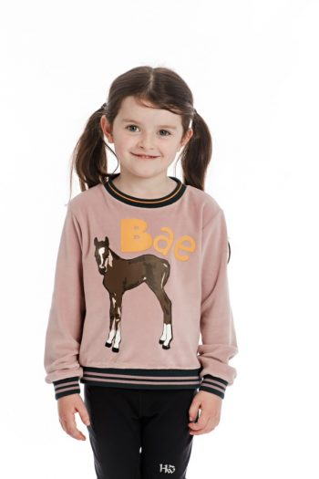 Horseware Kids Velvet Crewneck Jumper Lilac