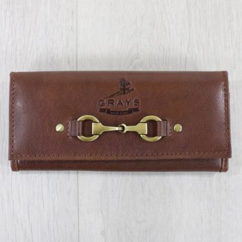 grays lily purse in brown natural leather
