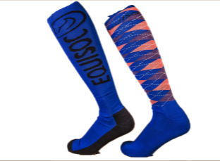 Blue and Peach Adult socks